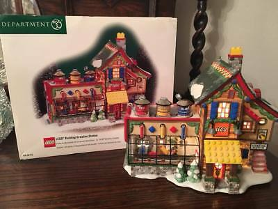 Department 56 North Pole Village Lego Building Creation Station