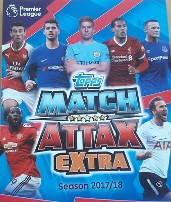 Topps Match Attax Extra 2017 2018 Premier League Complete Full Team Sets cards