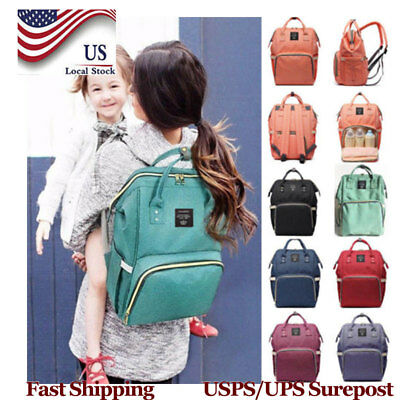 Land-Queen Mummy Nappy Diaper Bag Baby Nursing Large Capacity Travel Backpack