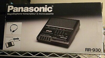 Panasonic RR-930 Microcassette Transscriber W/ Box RR 930