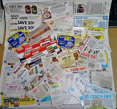 Vintage Lot of 80+ Grocery Store Coupons No Expiration Date 1980's P&G Purina