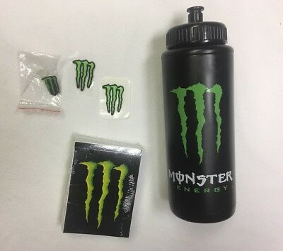 MONSTER Energy ATHLETE Water Bottle - 2 ATHLETE ONLY PATCHES - Pin -100 Stickers
