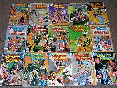 Wonder-Woman + Green Lantern  Bronze Age Comic Lot  Of  50  Issues! Sharp Copies