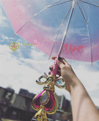 Japan Anime Sailor Moon Women Cute Umbrella Magic Stick Long Handle Umbrella