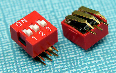 4pcs CTS 3 Position Slide Type DIP Switch 2.54mm pitch Vertical right angle