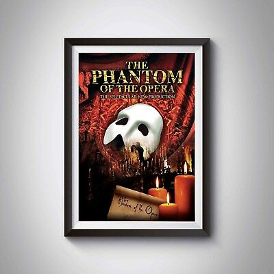 The Phantom Of The Opera | MUSICAL POSTERS | A4 or A3 | Home Wall Art Decor