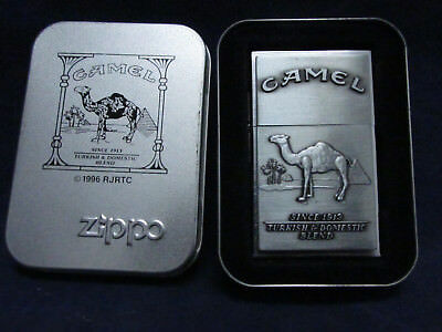 Camel Original 1932 Replica Second Release Zippo Lighter w/ Tin