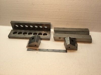 6 Pc. Lot Machinist Tool & Die Parallel Blocks Setup Blocks Etc.