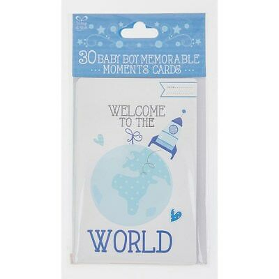 Baby Shower 30 x Baby Boy Memorable Moment Smile Weeks Cards
