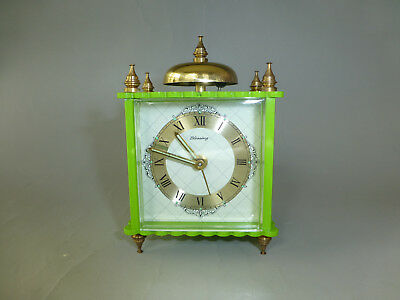 Vintage German Made Blessing Mechanical Bell Alarm Clock Just Fully Serviced