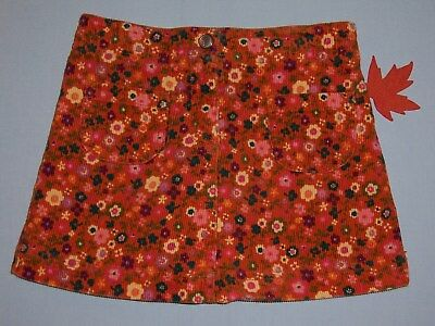 "Gymboree girls ""MIX and MATCH"" sz 4T SKIRT...ORANGE FLORAL CORDUROY...OUTLET"
