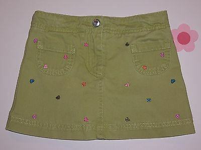 "Gymboree girls ""MIX and MATCH"" sz 3T SKORT...GREEN with HEARTS...CUTE"