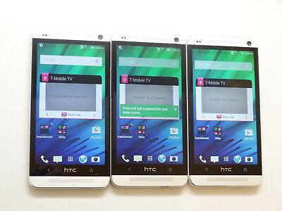 Lot of 3 HTC One M7 PN07130 32GB T-Mobile Smartphones AS-IS GSM !