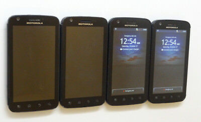 Lot of 4 Motorola Atrix MB860 AT&T Smartphones All Power On Good LCD AS-IS GSM