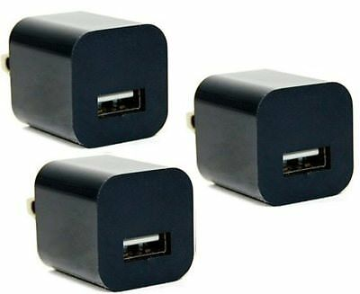 Lot Of 3 USB Power Adapter Wall Charger Smartphone LG V30 Moto Z2 Google Pixel