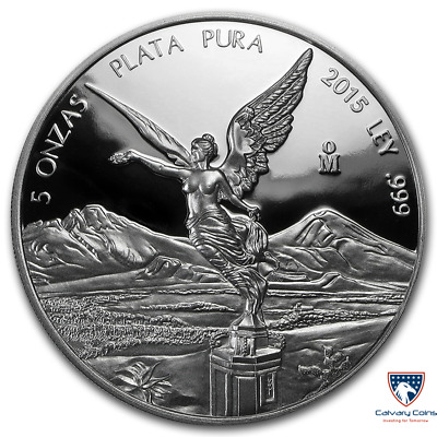 2015 5 oz Mexican Silver Libertad Proof Coin (In Capsule)
