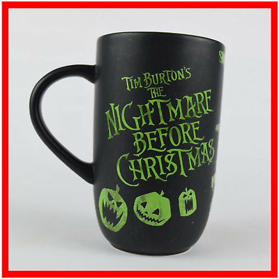 Disney Store Mug The Nightmare Before Christmas Tall Ceramic Coffee Cup Rare