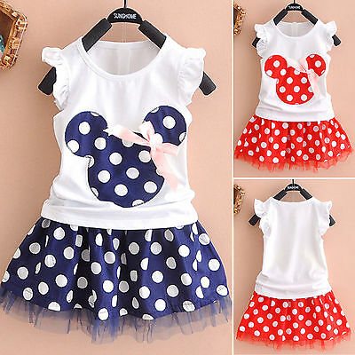 2018 New Toddler Girls Baby Princess Minnie Mouse Kids Cute Tulle Tutu Dress K70