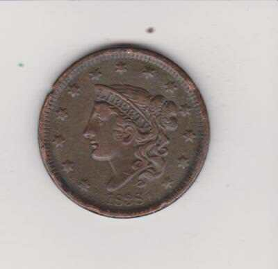 1838 Large Penny 180 Years Old Verynice  Color/detail  Free Shipping