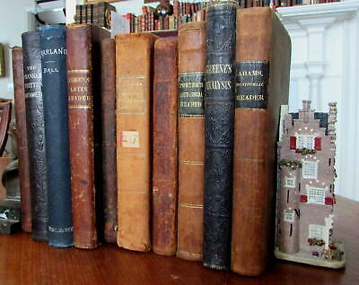 Educational school books 19th century collection 10 old books math english