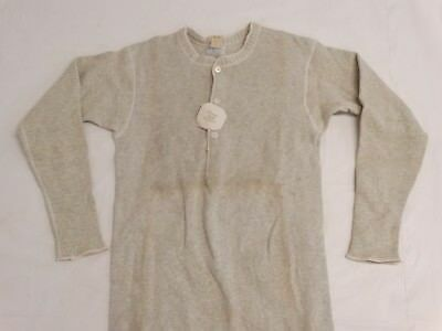 ANTIQUE 1900s Boy's HENLEY SHIRT Long Sleeves UNWORN Orig Tag Forest Mills