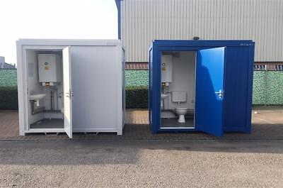 New 8' x 5' / 2.4m x 1.4m Anti Vandal Toilet Shower Units Available in Blue Grey