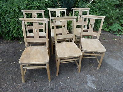 Church chairs, set of 6, early 20th century