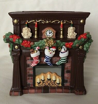 PartyLite Fireplace Hearthside Aroma Melts Warmer Christmas Candle Holder