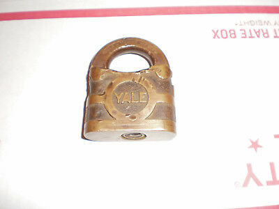 Vintage ~ Yale  Brass Padlock made in usa , No Key.