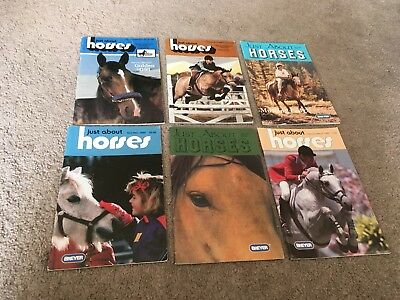 Breyer Just About Horses Vintage Lot Jah 1985 1987 1989 1991 magazines