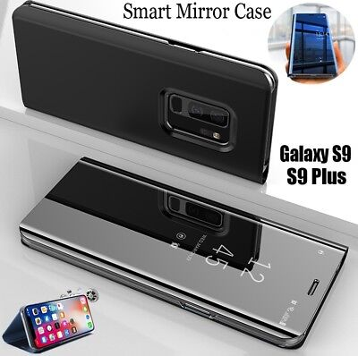 Luxury Mirror View Smart Flip Stand Case Cover For Samsung Galaxy S9 Plus S8 S9