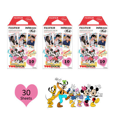 For Fuji 8 9 25 70 Camera SP-1 Fujifilm Instax Mini Disney Mickey 30 Photos Film