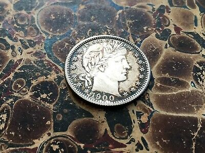 1900 U. S. Barber Quarter Extremely Fine Condition