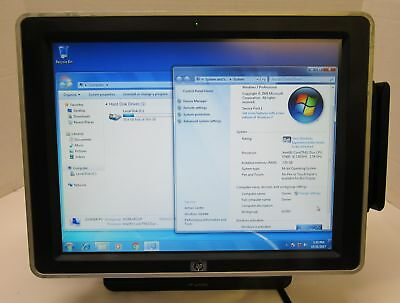 HP ap5000 POS Touchscreen Terminal Intel Core 2 Duo 2.80GHz 3GB RAM 80GB HDD