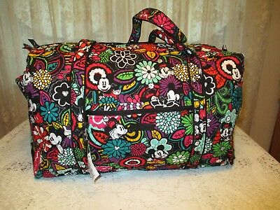 Vera Bradley   LARGE DUFFLE  MICKEY IN MAGICAL BLOOMS  NWT  RV $99