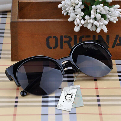 2018 Cat Eye Sunglasses Women Vintage Semi-Rimless Sun Glasses Inspired Round