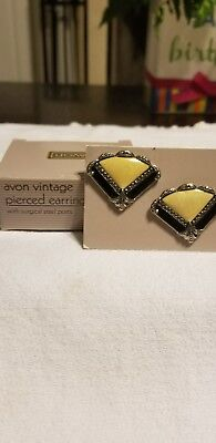 Vintage Avon Pierced Earrings with surgical steel Posts