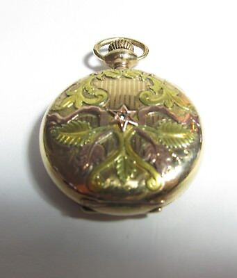 Antique Multi Color Hunting Case Waltham Pocket Watch-No Reserve