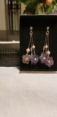 Vintage Avon Spring Swing Earrings with surgical steel Posts