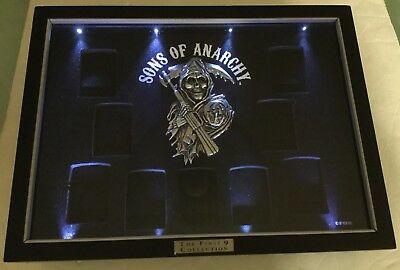 "Sons Of Anarchy""The First 9 Collection"" Zippo Collection Display Case-Lights Up"