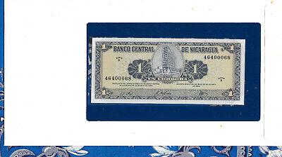 Banknotes of all Nations Nicaragua 1 Cordoba 1968 P115 UNC Serie B*