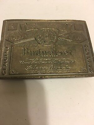 Vintage Budweiser Genuine Lager Beer Belt Buckle