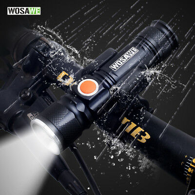2000LM USB Rechargeable Bike Front Light LED Lamp Cycling Headlight Flashlight
