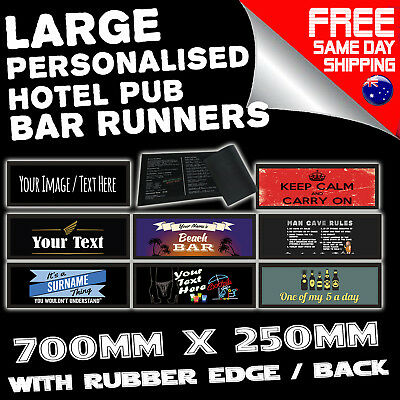 PROFESSIONAL PERSONALISED BAR RUNNERS - hotel cafe menu sign fun birthday gift
