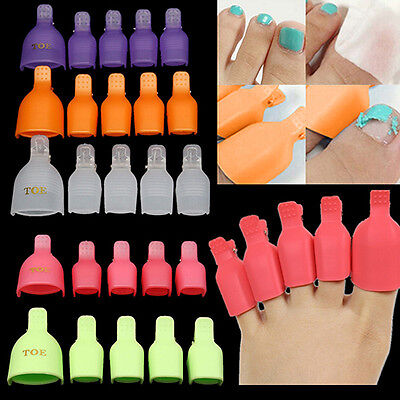 LC_ 5pcs Ongles Soak-Off Clip Capuchons Nail Art Tips Vernis Gel UV Pince
