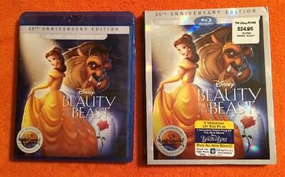 Beauty and the Beast (Blu-ray/DVD, 2016, 2-Disc Set, 25th Anniversary Edition