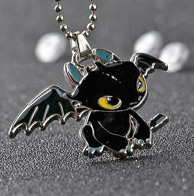 How To Train Your Dragon Toothless Pendant Metal Necklace Chain   A03