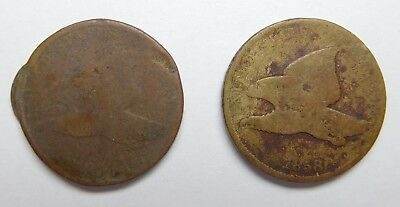 1858 Flying Eagle Cent - Lot of 2