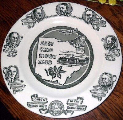 Vintage Warren Ohio Collector Plate East Ohio Hobby Club Kettle Springs Alliance