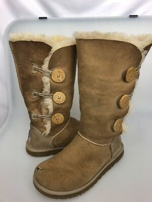 9666829959f UGG BAILEY Button Triplet Tall Boots Sand Size 6 Women's 1873